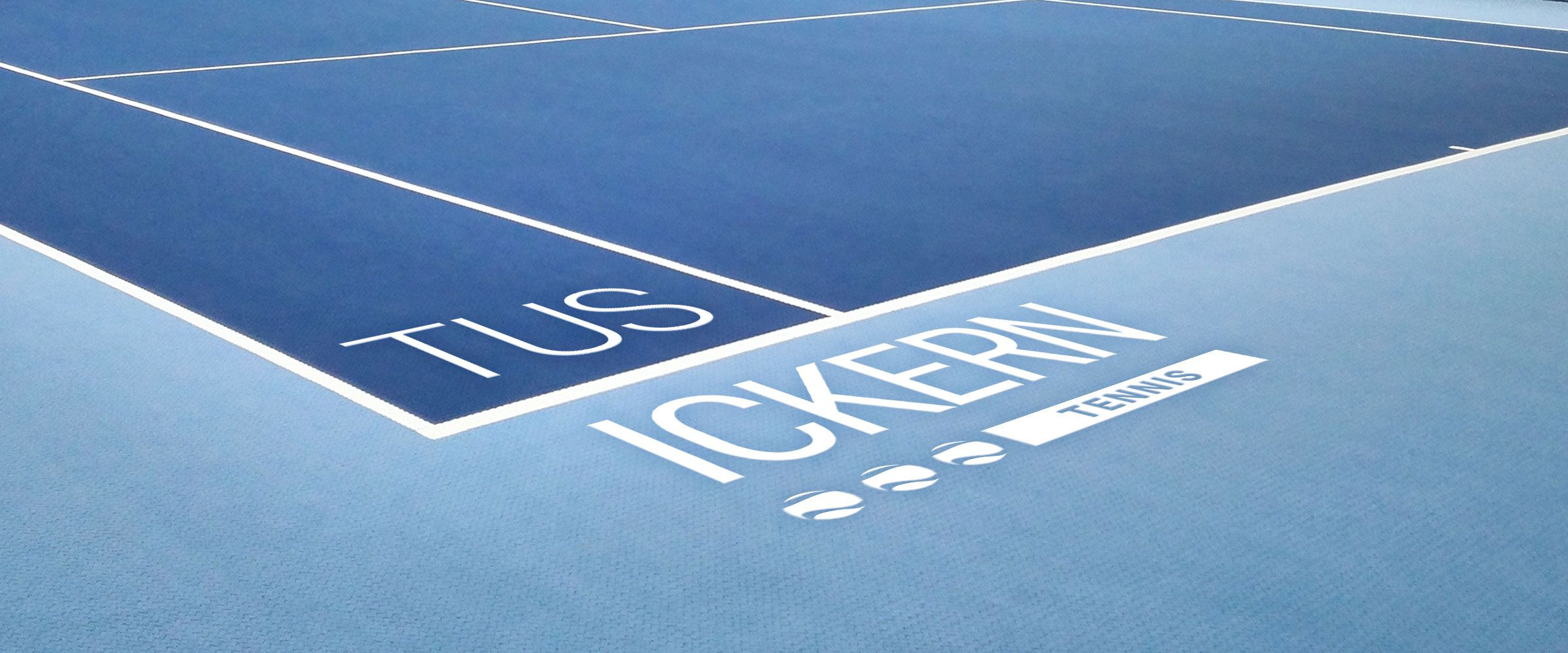 Foto: Komposing Center-Court mit Logo TUS ICKERN